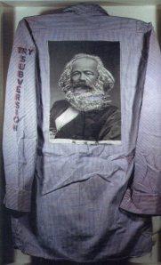 Back of Karl Marx shirt